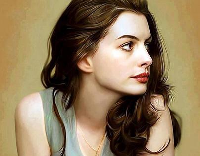 Portrait Oil Painting AnneHathway