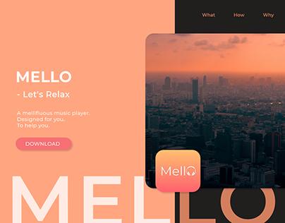 Mello App - Web Design - Druhin