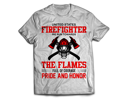 Firefighter T-shirt designs