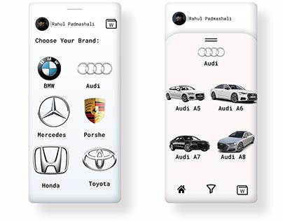 Rent a Car App | Ui Design