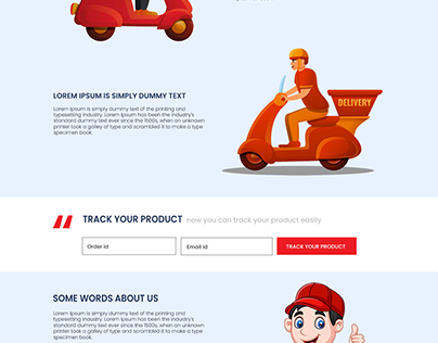 Courier Delivery Website