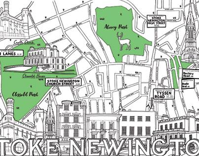 Stoke Newington Map