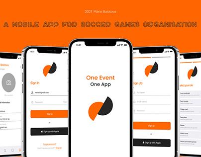 Mobile App for Soccer games organisation