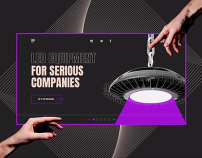 LED Equipment website