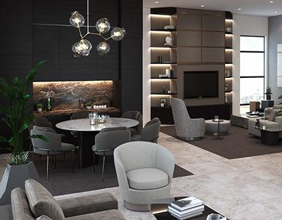 Render Lounge Area