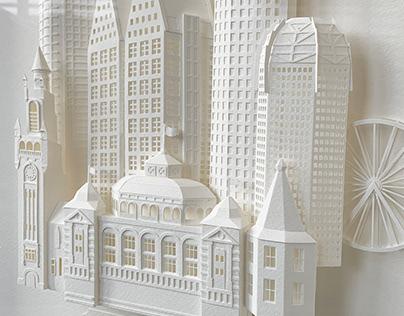 Papercraft Cityscape The Hague