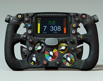 Steering wheel Sauber
