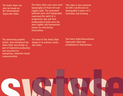Artistry/Design Movement: Swiss Style