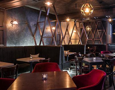 MONZA Restaurant&Caffee bar interior design