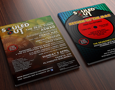 Poster and Flyer Development for Souled Out Plymouth