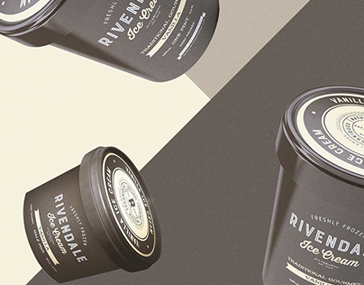 Rivendale - Ice Cream Brand Identity & Packaging