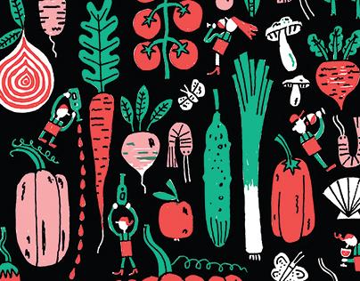 Restaurant Le Vin Papillon / illustration for a t-shirt