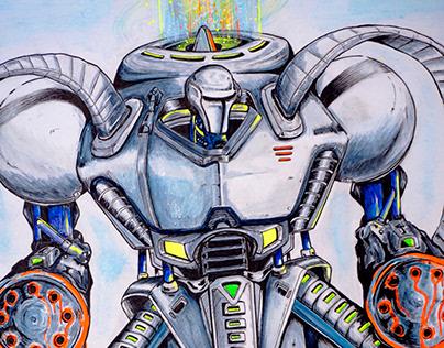 Gatling Bot - Concept Art
