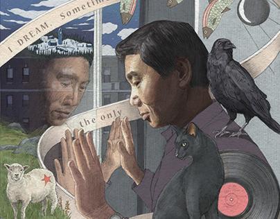 Wise Words on Ribbon: Emerson, Rowling, Murakami