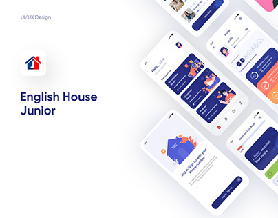 UI/UX Design for English House Junior(Learning App)