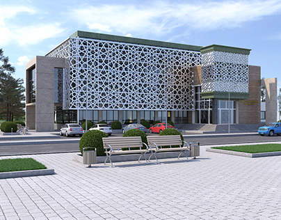 Administartive building 3Ds Max-vray-Ps