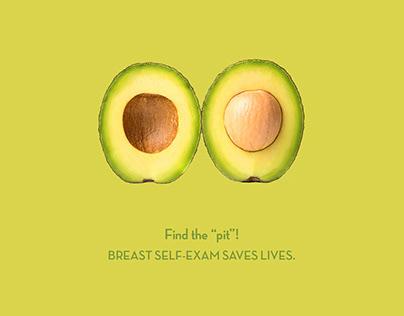 FIND THE PIT - Breast Cancer Social Poster(Design4Life)