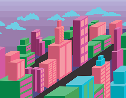 Bubblegum Cityscape