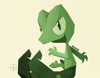 Pokemon starters 01 (Kanto to Hoenn)
