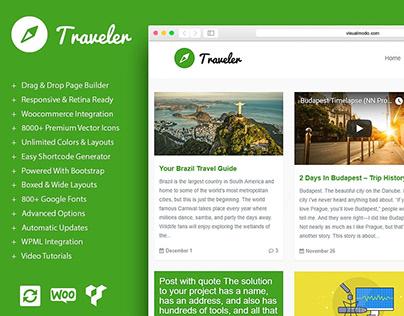 WordPress Blog Builder - Traveler WordPress Theme