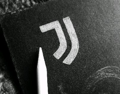 Juventus Logo in Black and White