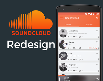 SoundCloud Android UI Redesign