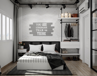 Bedroom industrial style