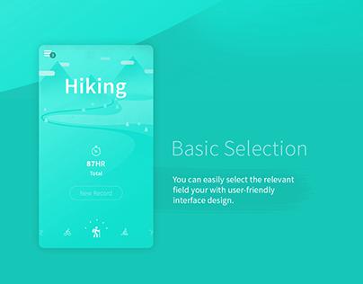 Hiking - App Concept