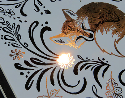 Fox Foil Print