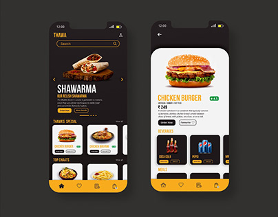 Thawa - Online Restaurant Concept By Anzy Designs