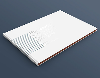 A4 Horizontal Book Mockup Thin Spine