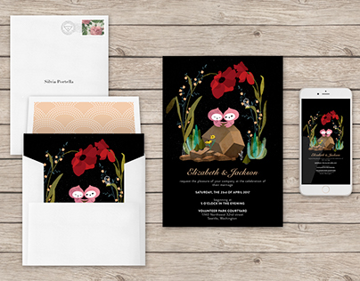 Wedding E-Card for Greenvelope