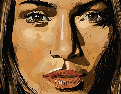 Vector portrait JENNIFER LOPEZ