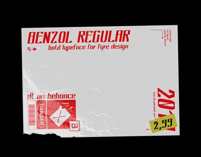 Benzol Regular - Free Font