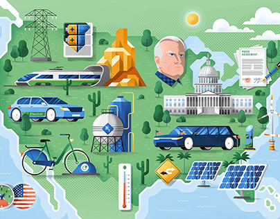 Electrified, map illustration