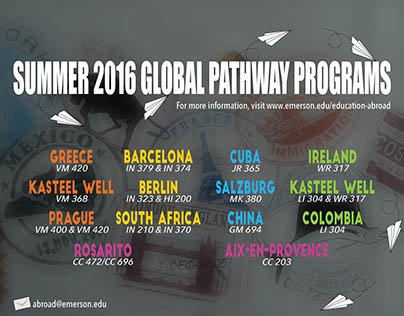 Emerson's EADP Global Pathways Poster