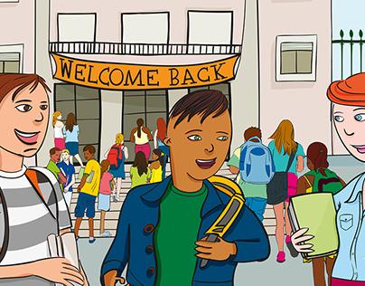 Proposal illustration | 6º grade book of english
