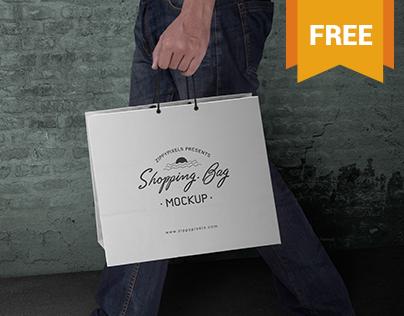 Free Shopping Bag Mockup PSD