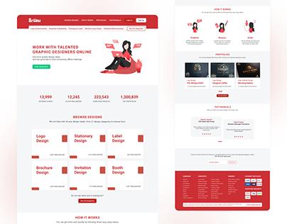UI Design Explorations - Sribu.com Website Landing Page
