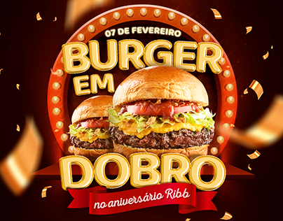 Burger em Dobro — advertising