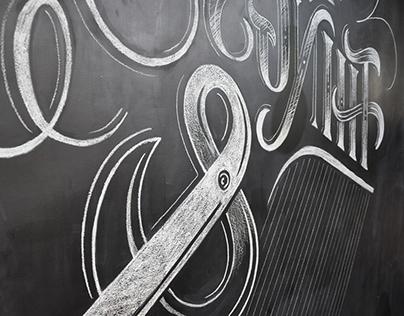 PINCH BARBER SHOP  - Chalk lettering