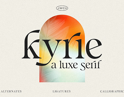 Kyrie: A Luxe Calligraphic Serif