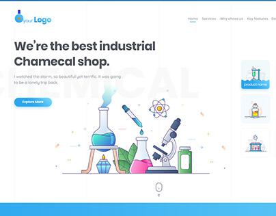 Industrial Chemical Shop website template UI/UX design