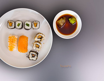 Sushi Food Fotografie. Clean. Clearcut and simple.