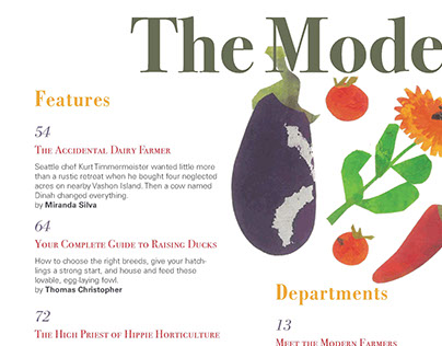 Modern Farmer Magazine Table of Contents Project
