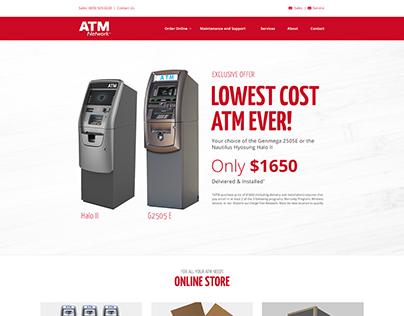 ATM Network e-commerce site redesign.