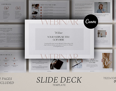 Webinar Slide Deck Canva template