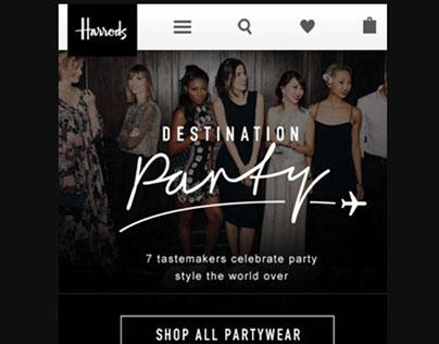 Harrods - Mobile design