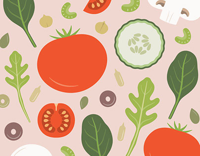 Fresh Salad - Surface Pattern Design