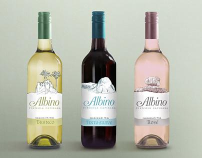 Projeto gráfico para vinícola Albino